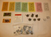 REPLACEMENT PARTS + PIECES Lord of the Rings Monopoly Figures Money Cards LOTR