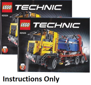 NEW INSTRUCTIONS ONLY LEGO CONTAINER TRUCK 42024 Technic books manuals from set