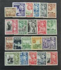 nystamps British Malta Stamp # 191-205 Mint OG H $54
