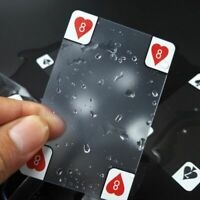 New Transparent Waterproof Pvc Poker Playing Cards Plastic Crystal Wareable Gift