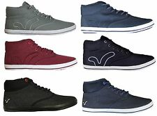 Voi Jeans Miracle Mens High Top Trainers Designer Lace Up Sneakers