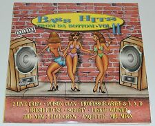 """BASS HITS FROM DA BOTTOM VOLUME II Lp 12""""x2 VARIOUS THE 2 LIVE CREW POISON CLAN"""