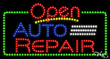 """New """"Open Auto Repair"""" 32x17 Solid/Animated Led Sign W/Custom Options 25454"""