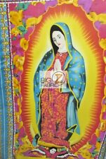 VIRGIN MARY OUR LADY OF GUADALUPE FLEECE PRINTED FABRIC FH-228 BY PANEL BLANKET