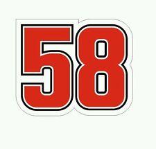 Pegatina Adhesivo Sticker 58 Simoncelli 12 CMS Aufkleber Autocollant