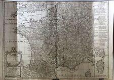 1771 France Vaugondy Paris Marseille Lyon Toulouse Bordeaux Nice Nantes Grenoble