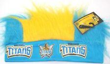 GOLD COAST TITANS NRL CRAZY HAIR HEADBAND SUPPORT TEAM LOGO COLOURS NOVELTY FUN