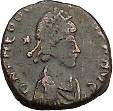 Theodosius II & Honorius RARE Authentic  Ancient  Roman Coin i39247