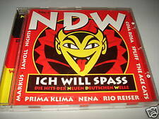 NDW VOL.1  ICH WILL SPASS CD MIT NENA RIO REISER JAWOLL SPLIFF THE ACE CATS