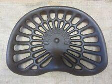Vintage Deering Cast Iron Tractor Seat > Antique Farm Tools Equipment 7359
