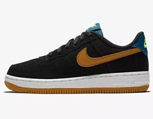 Nike Kid's Force 1 Black/Gold/Blue Sz 2y 596729-053 Fashion Shoe