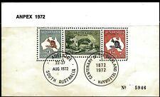 Australia -Anpex 1972 Souvenir Sheetlet. Ov/Pr In The Black Ov.Pr, Scarce!