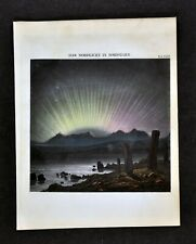 1872 Muller Celestial Print - Northern Lights Aurora Borealis Norway - Astronomy