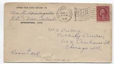 1931 New Carlisle Ohio American flag machine cancel cover [3593]