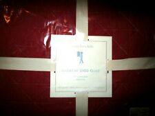 Pottery Barn Kids Garment  dyed quilt full queen red New with tags
