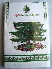 Vintage ? Old Stock Spode Christmas Tree Tablecloth 52x70 New Tweel Home Furnish