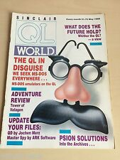 Sinclair QL World Magazine ~ MAY 1989 ~ Computer Articles ~ GOOD CONDITION