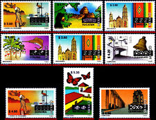 MEXICO 1999 TOURISM, LOT WITH 9 REGULAR STAMPS, SCOTT VALUE $20.00 ALL MNH