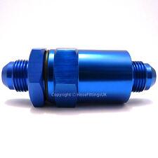 AN-6 Blue 30 MICRON riutilizzabile filtro carburante InLine EFI POMPA SERBATOIO TUBO RACCORDO