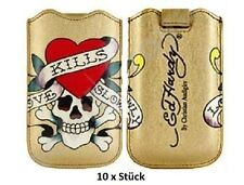 10x ED HARDY Love Kills Slowly LKS 10 Leder Tasche Apple iPhone 4 4S 3 3GS iPod