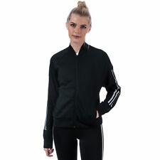 Adidas женские идентификатор на молнии с кармашком на полной молнии бомбардировщик супер-мягкий вязаный жакет в черном