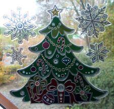 Fensterbild Weihnachts-Deko Weihnachtsbaum