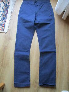 Xklusif navy 100% cotton trousers - 32W/33L