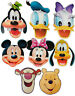 DISNEY CHARACTERS - 8 LICENSED CARD FACE MASKS & MULTIPACK -  FREE SHIPPING