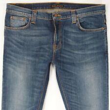 Mens Nudie TUBE TOM Stretch Skinny Blue Jeans W36 L32