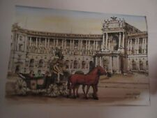 Originalgemälde Wiener Hofburg mit Kutsche