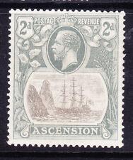 ASCENSION IS GV 1924 SG13c 2d grey-black & grey - variety Cleft Rock u/m cat£250