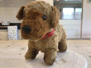 Antique vintage chiltern Pug Dog,miniature straw stuffed Chiltern toy dog,bears