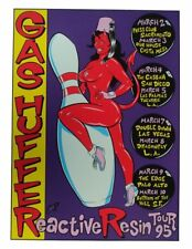 Coop - 1995 - Gas Huffer West Coast Tour Concert Poster Signed and Numbered