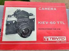 Kiev 60 TTL user manual English original