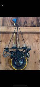 Gazebo Fully Assembled 8-candle Hanging Chandelier Illuminate Your Gazebo