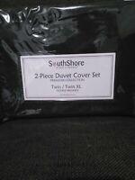 Southshore Fine Linens 2 Piece Microfiber Duvet Cover Set Twin/Twin XL Black