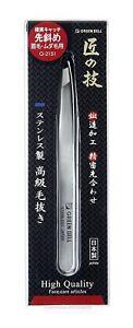 Takuminowaza  Stainless steel high grade tweezers eyebrows G-2151 Made in Japan