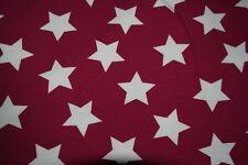 Baumwoll Jersey Sterne, dunkel pink, 150 cm * 25 cm