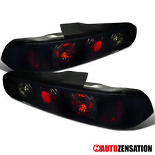 For 1994-2001 Acura Integra 2Dr Glossy Black Dark Smoke Tail Lights Brake Lamps