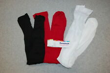 Baby Toddler Girls 3 Pair Lot Tights Black Red White 0-6 18-36 Mo 3T-5T