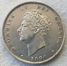 More details for 1826 george iv shilling silver vf coin lot s07
