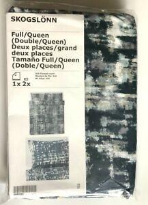 IKEA SKOGSLONN Full/Double/Queen Duvet cover + 2 pillowcases, Black, Multicolor