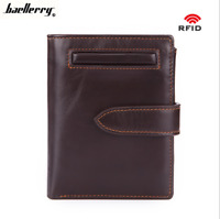 Men's Genuine Leather High Capacity Wallet Bifold Credit Card ID Holder Purse