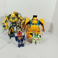 Lot Of 4 Transformers Hasbro Tomy Figures  Bumble Bee,1 Jet,1 Truck As Is Photos