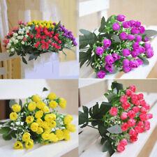 Artificial 36 Heads Garden Plastic Fake False  Bouquets Flowers Outdoor Plants
