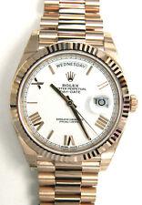 UNWORN ROLEX DAY-DATE 40MM YELLOW GOLD PRESIDENT WATCH 228238 WHITE ROMAN DIAL