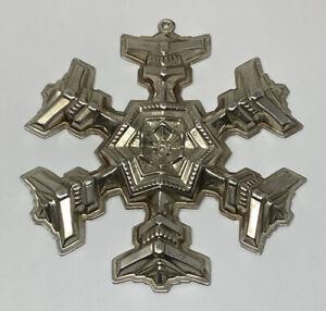 Gorham Sterling Silver 1977 Christmas Snowflake Ornament NO BOX (21.7 g.)