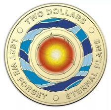 2018 $2 Coin Australian Two Dollar Eternal Flame 🔥 Ex Bag Uncirculated Coins