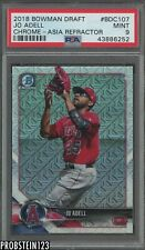 2018 Bowman Chrome Asia Refractor Jo Adell Angels RC Rookie PSA 9