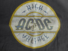 AC DC Rock Band T shirt Brown Mens sz Medium ?  Grunge Style High Voltage used
